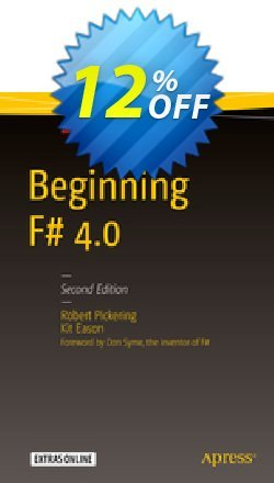 Beginning F# 4.0 - Pickering  Coupon, discount Beginning F# 4.0 (Pickering) Deal. Promotion: Beginning F# 4.0 (Pickering) Exclusive Easter Sale offer for iVoicesoft