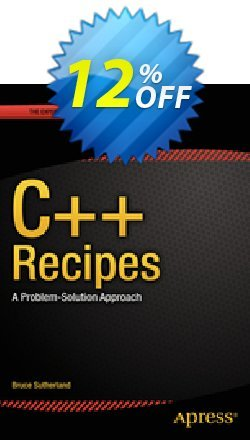 C++ Recipes - Sutherland  Coupon, discount C++ Recipes (Sutherland) Deal. Promotion: C++ Recipes (Sutherland) Exclusive Easter Sale offer for iVoicesoft