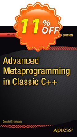 Advanced  Metaprogramming in Classic C++ - Di Gennaro  Coupon, discount Advanced  Metaprogramming in Classic C++ (Di Gennaro) Deal. Promotion: Advanced  Metaprogramming in Classic C++ (Di Gennaro) Exclusive Easter Sale offer for iVoicesoft