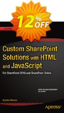 Custom SharePoint Solutions with HTML and JavaScript - Atkinson  Coupon, discount Custom SharePoint Solutions with HTML and JavaScript (Atkinson) Deal. Promotion: Custom SharePoint Solutions with HTML and JavaScript (Atkinson) Exclusive Easter Sale offer for iVoicesoft