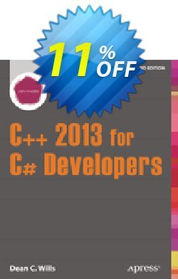 C++ 2013 for C# Developers - Wills  Coupon, discount C++ 2013 for C# Developers (Wills) Deal. Promotion: C++ 2013 for C# Developers (Wills) Exclusive Easter Sale offer for iVoicesoft