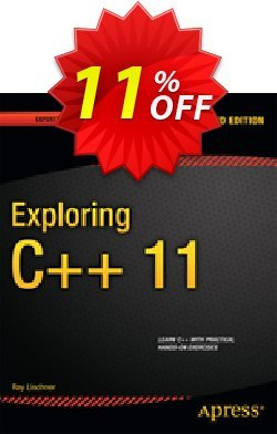 Exploring C++ 11 - Lischner  Coupon, discount Exploring C++ 11 (Lischner) Deal. Promotion: Exploring C++ 11 (Lischner) Exclusive Easter Sale offer for iVoicesoft