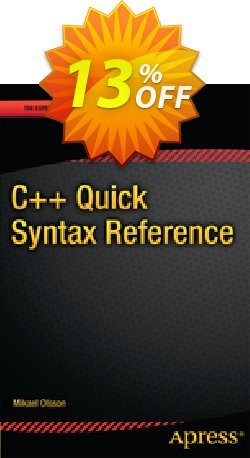 C++ Quick Syntax Reference - Olsson  Coupon, discount C++ Quick Syntax Reference (Olsson) Deal. Promotion: C++ Quick Syntax Reference (Olsson) Exclusive Easter Sale offer for iVoicesoft