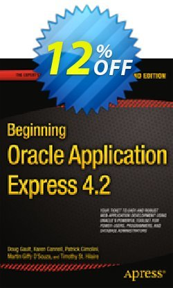 Beginning Oracle Application Express 4.2 - Gault  Coupon, discount Beginning Oracle Application Express 4.2 (Gault) Deal. Promotion: Beginning Oracle Application Express 4.2 (Gault) Exclusive Easter Sale offer for iVoicesoft
