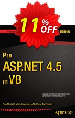 Pro ASP.NET 4.5 in VB - Mabbutt  Coupon, discount Pro ASP.NET 4.5 in VB (Mabbutt) Deal. Promotion: Pro ASP.NET 4.5 in VB (Mabbutt) Exclusive Easter Sale offer for iVoicesoft
