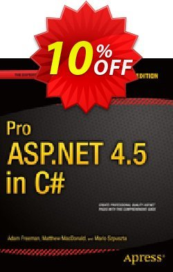 Pro ASP.NET 4.5 in C# - Freeman  Coupon, discount Pro ASP.NET 4.5 in C# (Freeman) Deal. Promotion: Pro ASP.NET 4.5 in C# (Freeman) Exclusive Easter Sale offer for iVoicesoft