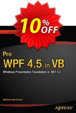 Pro WPF 4.5 in VB - MacDonald  Coupon discount Pro WPF 4.5 in VB (MacDonald) Deal - Pro WPF 4.5 in VB (MacDonald) Exclusive Easter Sale offer for iVoicesoft
