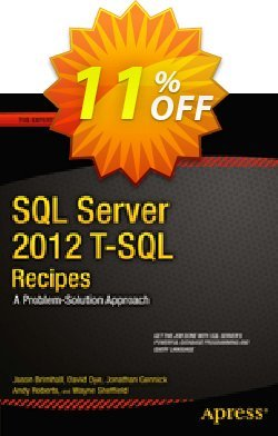 SQL Server 2012 T-SQL Recipes - Brimhall  Coupon discount SQL Server 2012 T-SQL Recipes (Brimhall) Deal - SQL Server 2012 T-SQL Recipes (Brimhall) Exclusive Easter Sale offer for iVoicesoft