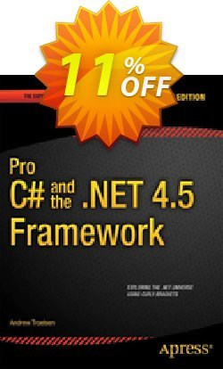 Pro C# 5.0 and the .NET 4.5 Framework - Troelsen  Coupon, discount Pro C# 5.0 and the .NET 4.5 Framework (Troelsen) Deal. Promotion: Pro C# 5.0 and the .NET 4.5 Framework (Troelsen) Exclusive Easter Sale offer for iVoicesoft