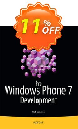 Pro Windows Phone 7 Development - Cameron  Coupon, discount Pro Windows Phone 7 Development (Cameron) Deal. Promotion: Pro Windows Phone 7 Development (Cameron) Exclusive Easter Sale offer for iVoicesoft