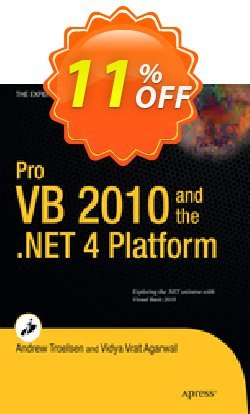 Pro VB 2010 and the .NET 4.0 Platform - Troelsen  Coupon, discount Pro VB 2010 and the .NET 4.0 Platform (Troelsen) Deal. Promotion: Pro VB 2010 and the .NET 4.0 Platform (Troelsen) Exclusive Easter Sale offer for iVoicesoft