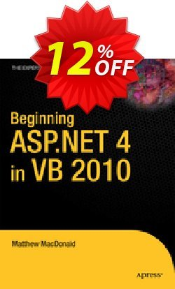Beginning ASP.NET 4 in VB 2010 - MacDonald  Coupon discount Beginning ASP.NET 4 in VB 2010 (MacDonald) Deal - Beginning ASP.NET 4 in VB 2010 (MacDonald) Exclusive Easter Sale offer for iVoicesoft