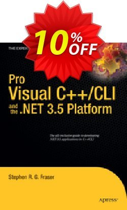 Pro Visual C++/CLI and the .NET 3.5 Platform - Fraser  Coupon discount Pro Visual C++/CLI and the .NET 3.5 Platform (Fraser) Deal. Promotion: Pro Visual C++/CLI and the .NET 3.5 Platform (Fraser) Exclusive Easter Sale offer for iVoicesoft