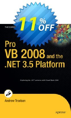 Pro VB 2008 and the .NET 3.5 Platform - Troelsen  Coupon, discount Pro VB 2008 and the .NET 3.5 Platform (Troelsen) Deal. Promotion: Pro VB 2008 and the .NET 3.5 Platform (Troelsen) Exclusive Easter Sale offer for iVoicesoft