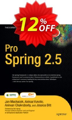 Pro Spring 2.5 - Chakraborty  Coupon, discount Pro Spring 2.5 (Chakraborty) Deal. Promotion: Pro Spring 2.5 (Chakraborty) Exclusive Easter Sale offer for iVoicesoft