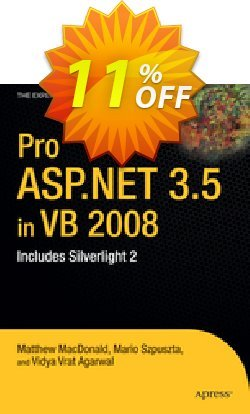 Pro ASP.NET 3.5 in VB 2008 - Szpuszta  Coupon, discount Pro ASP.NET 3.5 in VB 2008 (Szpuszta) Deal. Promotion: Pro ASP.NET 3.5 in VB 2008 (Szpuszta) Exclusive Easter Sale offer for iVoicesoft