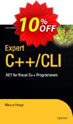 Expert Visual C++/CLI - Heege  Coupon, discount Expert Visual C++/CLI (Heege) Deal. Promotion: Expert Visual C++/CLI (Heege) Exclusive Easter Sale offer for iVoicesoft