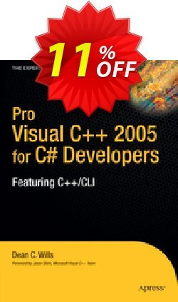 Pro Visual C++ 2005 for C# Developers - Wills  Coupon, discount Pro Visual C++ 2005 for C# Developers (Wills) Deal. Promotion: Pro Visual C++ 2005 for C# Developers (Wills) Exclusive Easter Sale offer for iVoicesoft