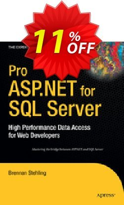 Pro ASP.NET for SQL Server - Stehling  Coupon discount Pro ASP.NET for SQL Server (Stehling) Deal - Pro ASP.NET for SQL Server (Stehling) Exclusive Easter Sale offer for iVoicesoft