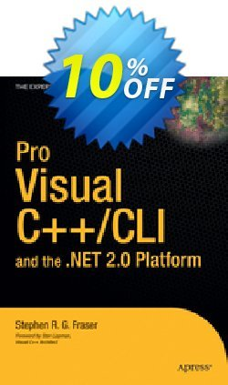 Pro Visual C++/CLI and the .NET 2.0 Platform - Fraser  Coupon, discount Pro Visual C++/CLI and the .NET 2.0 Platform (Fraser) Deal. Promotion: Pro Visual C++/CLI and the .NET 2.0 Platform (Fraser) Exclusive Easter Sale offer for iVoicesoft