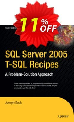 SQL Server 2005 T-SQL Recipes - Sack  Coupon discount SQL Server 2005 T-SQL Recipes (Sack) Deal - SQL Server 2005 T-SQL Recipes (Sack) Exclusive Easter Sale offer for iVoicesoft