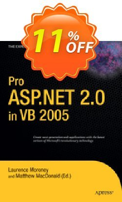 Pro ASP.NET 2.0 in VB 2005 - Moroney  Coupon discount Pro ASP.NET 2.0 in VB 2005 (Moroney) Deal - Pro ASP.NET 2.0 in VB 2005 (Moroney) Exclusive Easter Sale offer for iVoicesoft