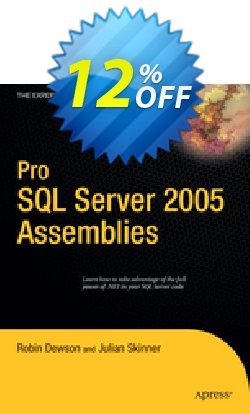 Pro SQL Server 2005 Assemblies - Dewson  Coupon discount Pro SQL Server 2005 Assemblies (Dewson) Deal - Pro SQL Server 2005 Assemblies (Dewson) Exclusive Easter Sale offer for iVoicesoft