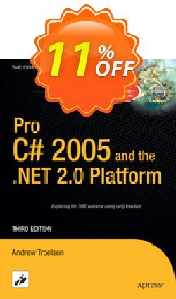 Pro C# 2005 and the .NET 2.0 Platform - Troelsen  Coupon discount Pro C# 2005 and the .NET 2.0 Platform (Troelsen) Deal - Pro C# 2005 and the .NET 2.0 Platform (Troelsen) Exclusive Easter Sale offer for iVoicesoft