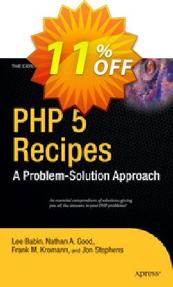 PHP 5 Recipes - Kromann  Coupon, discount PHP 5 Recipes (Kromann) Deal. Promotion: PHP 5 Recipes (Kromann) Exclusive Easter Sale offer for iVoicesoft