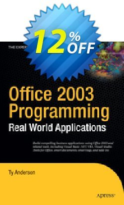 Office 2003 Programming - Anderson  Coupon discount Office 2003 Programming (Anderson) Deal - Office 2003 Programming (Anderson) Exclusive Easter Sale offer for iVoicesoft