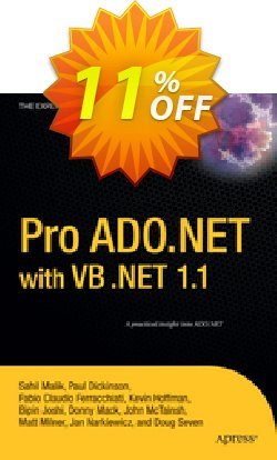 Pro ADO.NET with VB .NET 1.1 - Hoffman  Coupon discount Pro ADO.NET with VB .NET 1.1 (Hoffman) Deal - Pro ADO.NET with VB .NET 1.1 (Hoffman) Exclusive Easter Sale offer for iVoicesoft