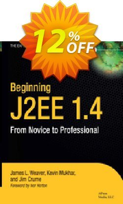 Beginning J2EE 1.4 - Weaver  Coupon, discount Beginning J2EE 1.4 (Weaver) Deal. Promotion: Beginning J2EE 1.4 (Weaver) Exclusive Easter Sale offer for iVoicesoft