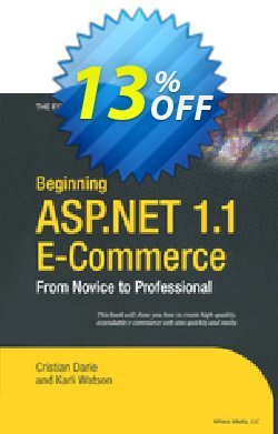 Beginning ASP.NET 1.1 E-Commerce - Watson  Coupon discount Beginning ASP.NET 1.1 E-Commerce (Watson) Deal - Beginning ASP.NET 1.1 E-Commerce (Watson) Exclusive Easter Sale offer for iVoicesoft