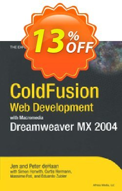 ColdFusion Web Development with Macromedia Dreamweaver MX 2004 - de Haan  Coupon, discount ColdFusion Web Development with Macromedia Dreamweaver MX 2004 (de Haan) Deal. Promotion: ColdFusion Web Development with Macromedia Dreamweaver MX 2004 (de Haan) Exclusive Easter Sale offer for iVoicesoft
