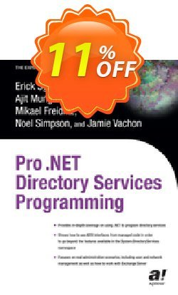 Pro .NET Directory Services Programming - Freidlitz  Coupon discount Pro .NET Directory Services Programming (Freidlitz) Deal - Pro .NET Directory Services Programming (Freidlitz) Exclusive Easter Sale offer for iVoicesoft