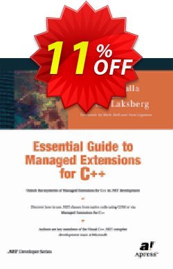 Essential Guide to Managed Extensions for C++ - Laksberg  Coupon, discount Essential Guide to Managed Extensions for C++ (Laksberg) Deal. Promotion: Essential Guide to Managed Extensions for C++ (Laksberg) Exclusive Easter Sale offer for iVoicesoft
