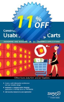 Constructing Usable Shopping Carts - Kerr  Coupon, discount Constructing Usable Shopping Carts (Kerr) Deal. Promotion: Constructing Usable Shopping Carts (Kerr) Exclusive Easter Sale offer for iVoicesoft