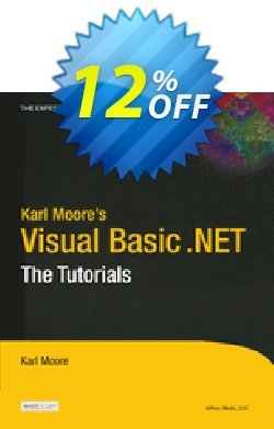 Karl Moore's Visual Basic .NET - Moore  Coupon, discount Karl Moore's Visual Basic .NET (Moore) Deal. Promotion: Karl Moore's Visual Basic .NET (Moore) Exclusive Easter Sale offer for iVoicesoft