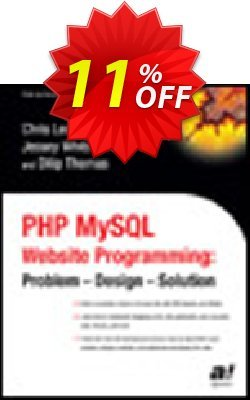 PHP MySQL Website Programming - Thomas  Coupon, discount PHP MySQL Website Programming (Thomas) Deal. Promotion: PHP MySQL Website Programming (Thomas) Exclusive Easter Sale offer for iVoicesoft