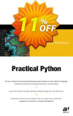 Practical Python - Lie Hetland  Coupon, discount Practical Python (Lie Hetland) Deal. Promotion: Practical Python (Lie Hetland) Exclusive Easter Sale offer for iVoicesoft