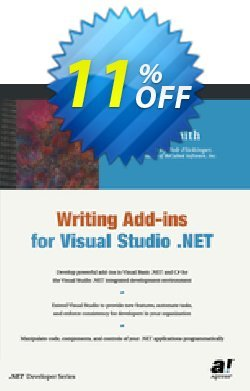 Writing Add-ins for Visual Studio .NET - Smith  Coupon, discount Writing Add-ins for Visual Studio .NET (Smith) Deal. Promotion: Writing Add-ins for Visual Studio .NET (Smith) Exclusive Easter Sale offer for iVoicesoft