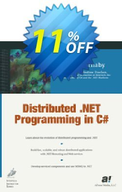Distributed .NET Programming in C# - Barnaby  Coupon, discount Distributed .NET Programming in C# (Barnaby) Deal. Promotion: Distributed .NET Programming in C# (Barnaby) Exclusive Easter Sale offer for iVoicesoft