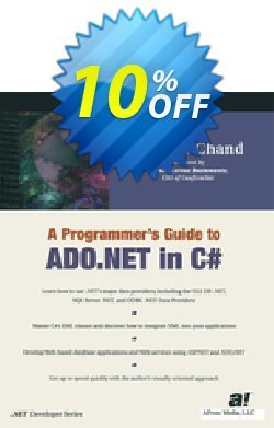 A Programmer's Guide to ADO.NET in C# - Chand  Coupon, discount A Programmer's Guide to ADO.NET in C# (Chand) Deal. Promotion: A Programmer's Guide to ADO.NET in C# (Chand) Exclusive Easter Sale offer for iVoicesoft