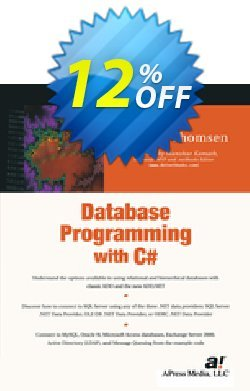 Database Programming with C# - Thomsen  Coupon, discount Database Programming with C# (Thomsen) Deal. Promotion: Database Programming with C# (Thomsen) Exclusive Easter Sale offer for iVoicesoft