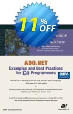 ADO.NET Examples and Best Practices for C# Programmers - Blackburn  Coupon, discount ADO.NET Examples and Best Practices for C# Programmers (Blackburn) Deal. Promotion: ADO.NET Examples and Best Practices for C# Programmers (Blackburn) Exclusive Easter Sale offer for iVoicesoft