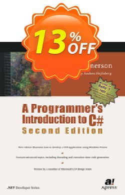 A Programmer's Introduction to C# - Gunnerson  Coupon, discount A Programmer's Introduction to C# (Gunnerson) Deal. Promotion: A Programmer's Introduction to C# (Gunnerson) Exclusive Easter Sale offer for iVoicesoft