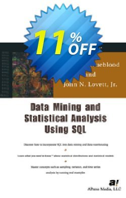 Data Mining and Statistical Analysis Using SQL - Lovett  Coupon, discount Data Mining and Statistical Analysis Using SQL (Lovett) Deal. Promotion: Data Mining and Statistical Analysis Using SQL (Lovett) Exclusive Easter Sale offer for iVoicesoft
