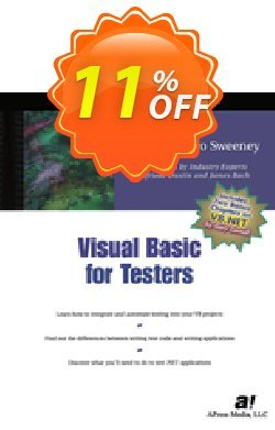 Visual Basic for Testers - Sweeney  Coupon, discount Visual Basic for Testers (Sweeney) Deal. Promotion: Visual Basic for Testers (Sweeney) Exclusive Easter Sale offer for iVoicesoft