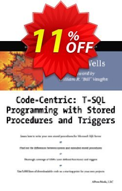 Code Centric: T-SQL Programming with Stored Procedures and Triggers - Wells  Coupon, discount Code Centric: T-SQL Programming with Stored Procedures and Triggers (Wells) Deal. Promotion: Code Centric: T-SQL Programming with Stored Procedures and Triggers (Wells) Exclusive Easter Sale offer for iVoicesoft