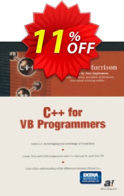 C++ for VB Programmers - Morrison  Coupon discount C++ for VB Programmers (Morrison) Deal - C++ for VB Programmers (Morrison) Exclusive Easter Sale offer for iVoicesoft